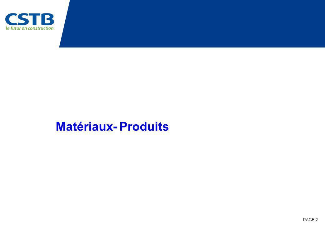 PAGE 2 Matériaux- Produits