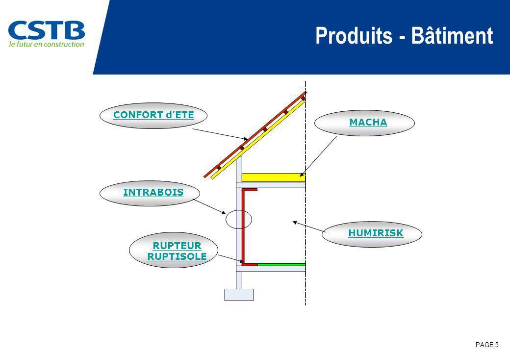 PAGE 6 Perspectives VIP: marché potentiel important dans la rénovation Développement de produits intégrants ces nouveaux matériaux Humidité: Risques croissants en cas de rénovation partielle