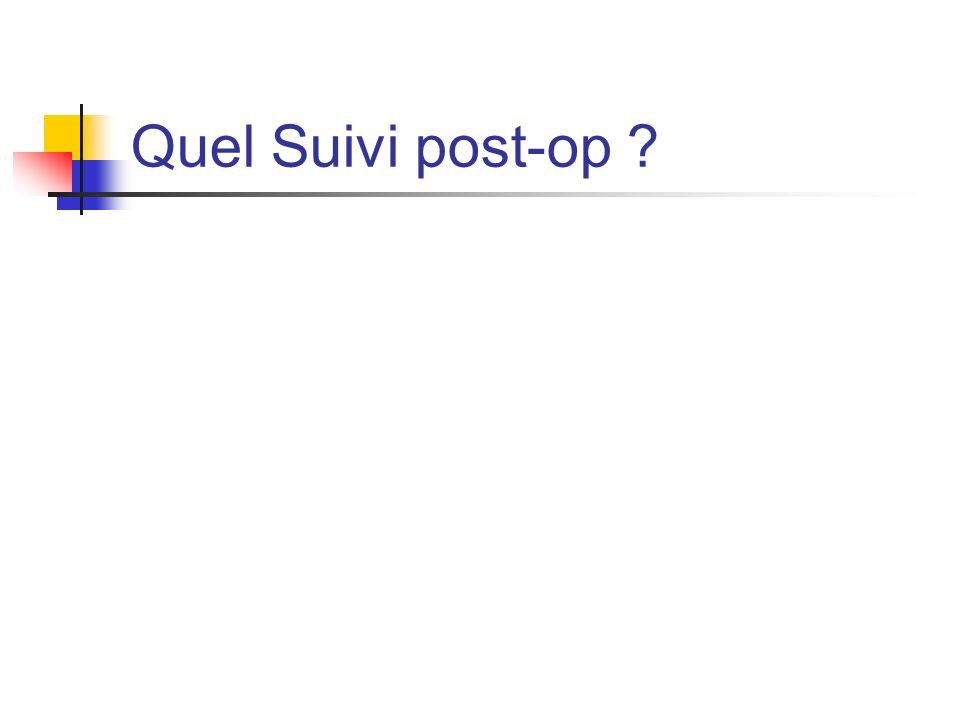Quel Suivi post-op ?