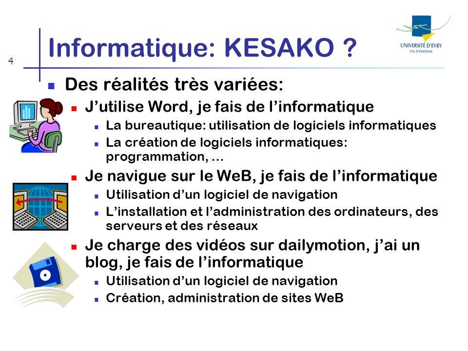 4 Informatique: KESAKO .
