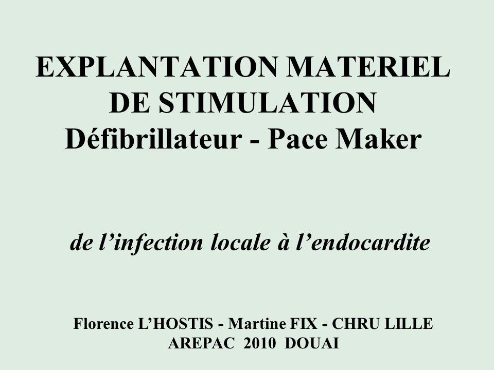 INTRODUCTION CHRU de LILLE: Centre important pour les implantations de DAI, PM dont une majorité de multi sites Patients avec pathologies lourdes = terrain fragile
