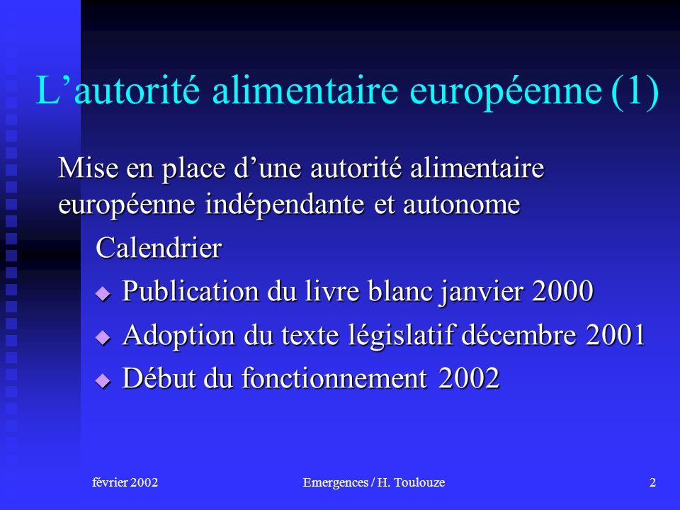 février 2002Emergences / H.