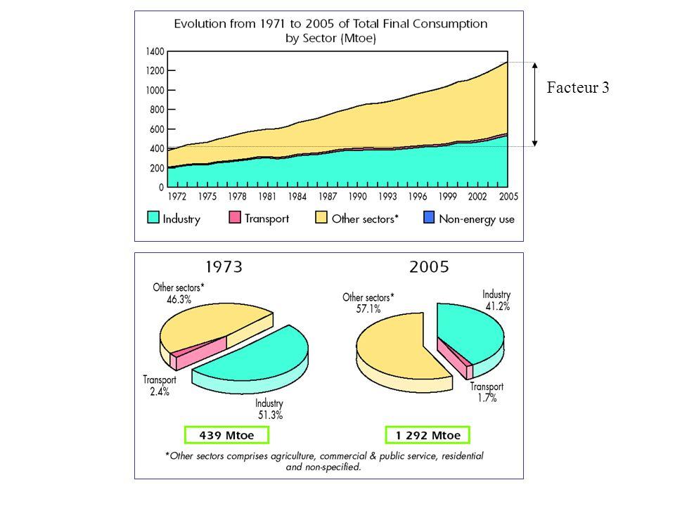 LAllemagne, lEspagne, les Etats-Unis, le Danemark, lInde disposent de 80 % de la puissance mondiale installée 6400 MW installés en 2005 en Europe 11400 MW installés en 2005 dans le Monde Puissance éolienne installée dans le monde