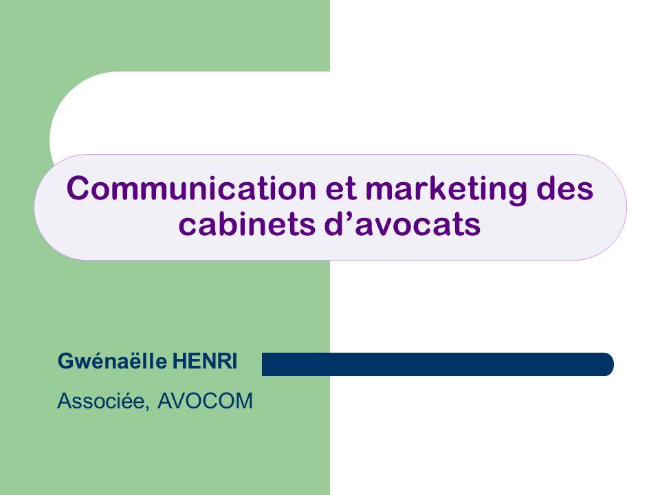 Communication et marketing des cabinets davocats Gwénaëlle HENRI Associée, AVOCOM