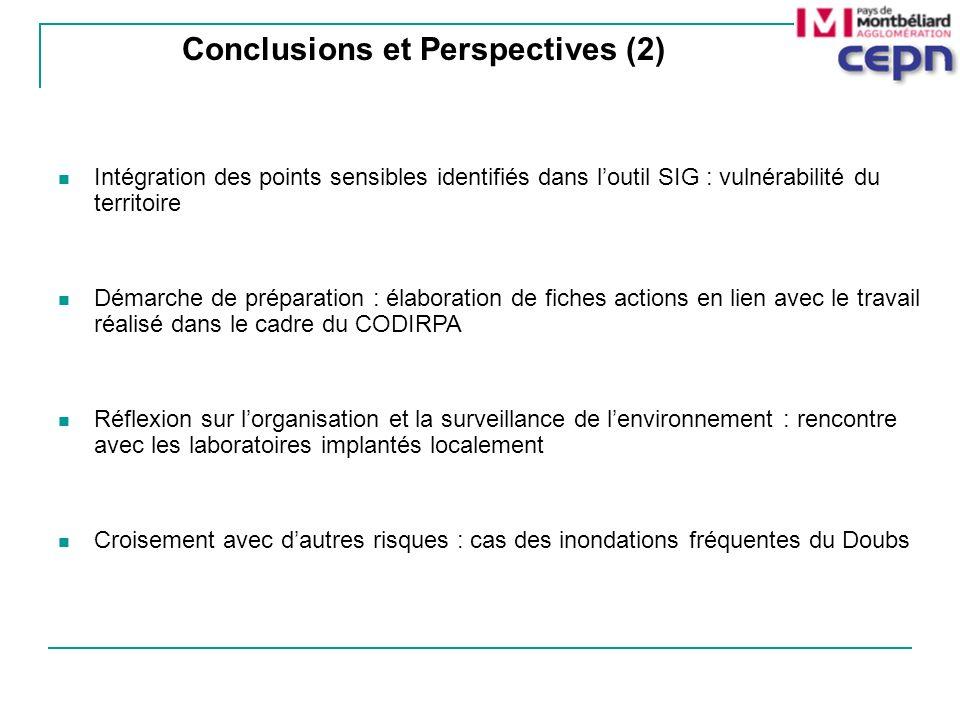 Intégration des points sensibles identifiés dans loutil SIG : vulnérabilité du territoire Démarche de préparation : élaboration de fiches actions en l