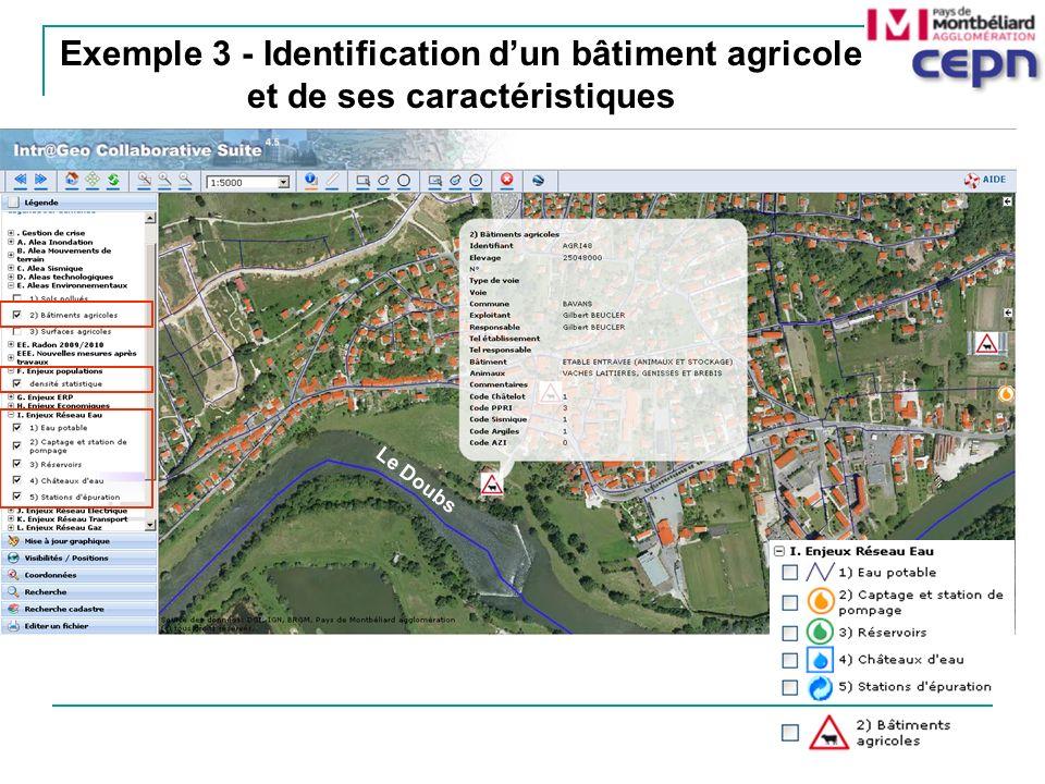 Exemple 3 - Identification dun bâtiment agricole et de ses caractéristiques Le Doubs