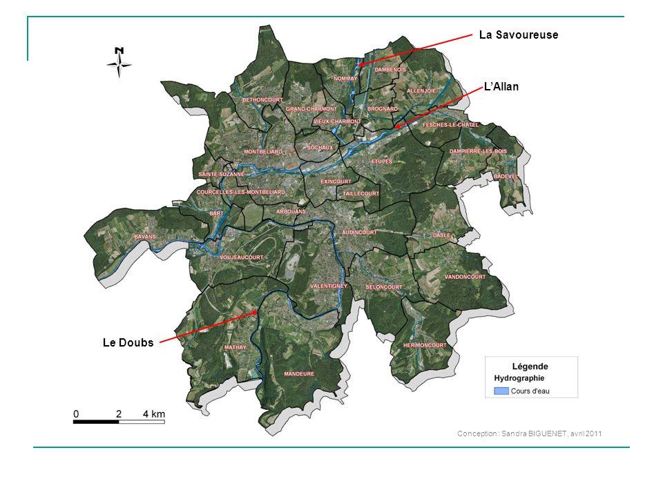 Conception : Sandra BIGUENET, avril 2011 Le Doubs LAllan La Savoureuse