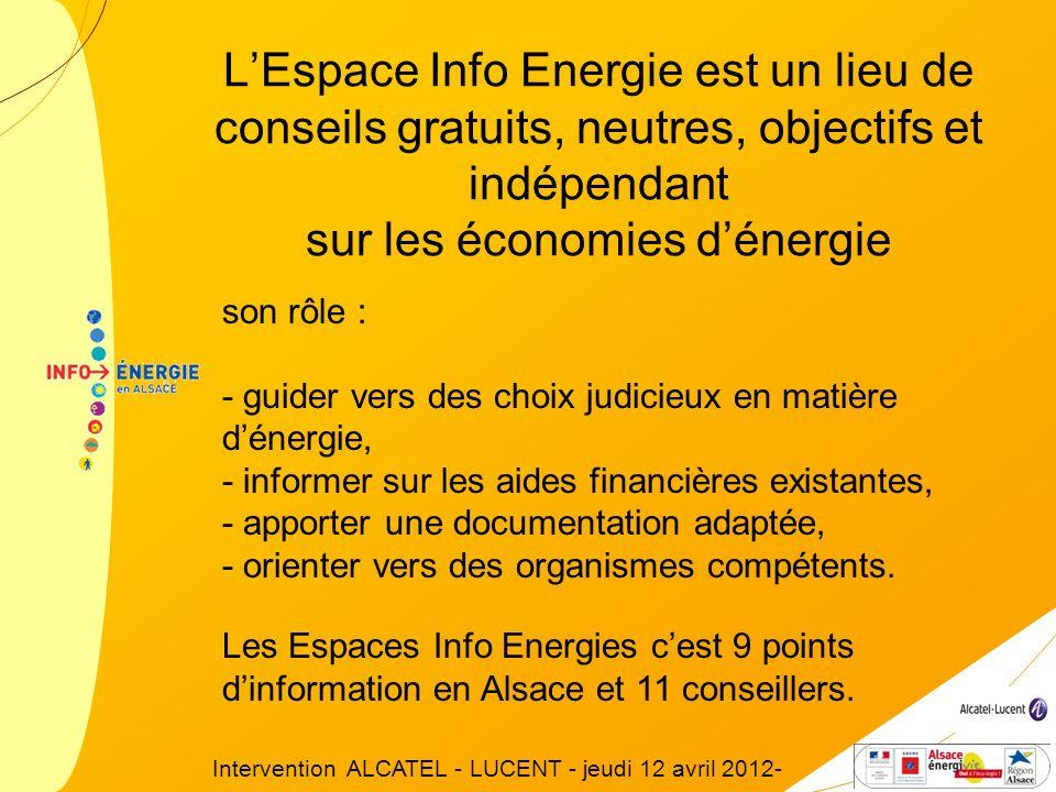 LEspace Info Energie est un lieu de conseils gratuits, neutres, objectifs et indépendant sur les économies dénergie son rôle : - guider vers des choix