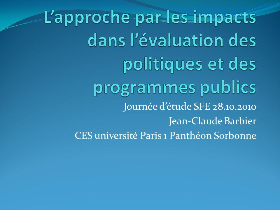 Journée détude SFE 28.10.2010 Jean-Claude Barbier CES université Paris 1 Panthéon Sorbonne