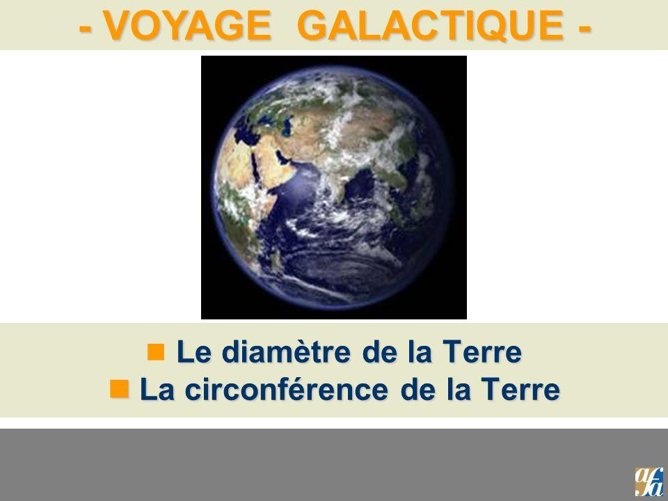 - VOYAGE GALACTIQUE - Le diamètre de la Terre La circonférence de la Terre