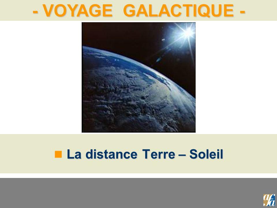 - VOYAGE GALACTIQUE - La distance Terre – Soleil