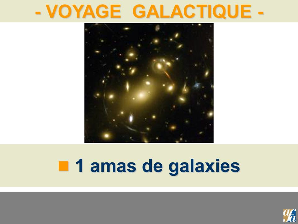 - VOYAGE GALACTIQUE - 1 amas de galaxies 1 amas de galaxies