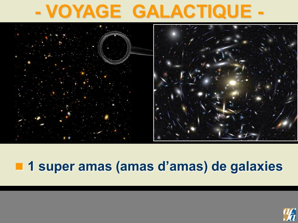 - VOYAGE GALACTIQUE - 1 super amas (amas damas) de galaxies 1 super amas (amas damas) de galaxies