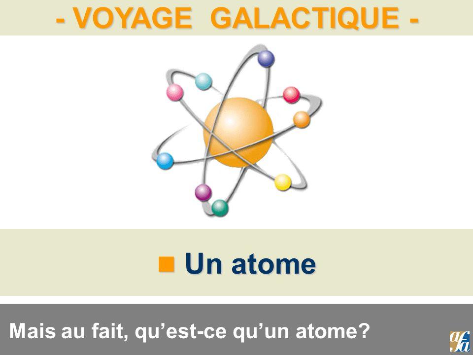 - VOYAGE GALACTIQUE - Un atome Un atome Mais au fait, quest-ce quun atome?