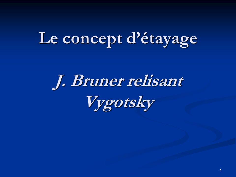 1 Le concept détayage J. Bruner relisant Vygotsky