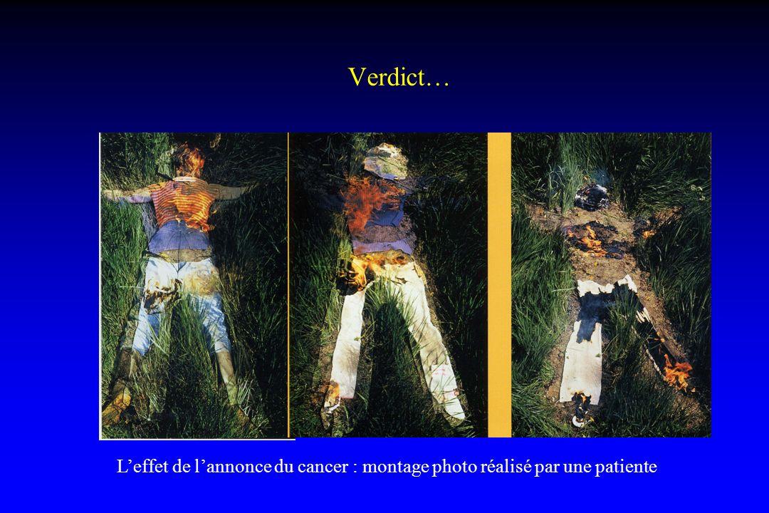Verdict… Leffet de lannonce du cancer : montage photo réalisé par une patiente