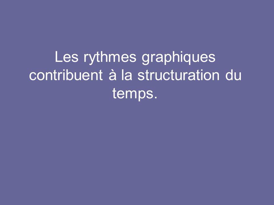 Les rythmes graphiques contribuent à la structuration du temps.