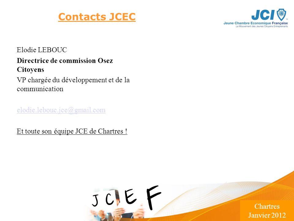 Conférence des Présidents Montargis 2009 Lieu – Date Contacts JCEC Elodie LEBOUC Directrice de commission Osez Citoyens VP chargée du développement et