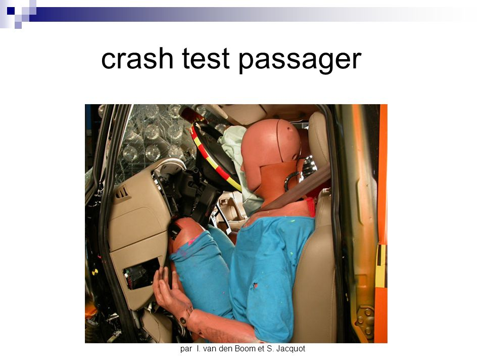 par I. van den Boom et S. Jacquot crash test passager
