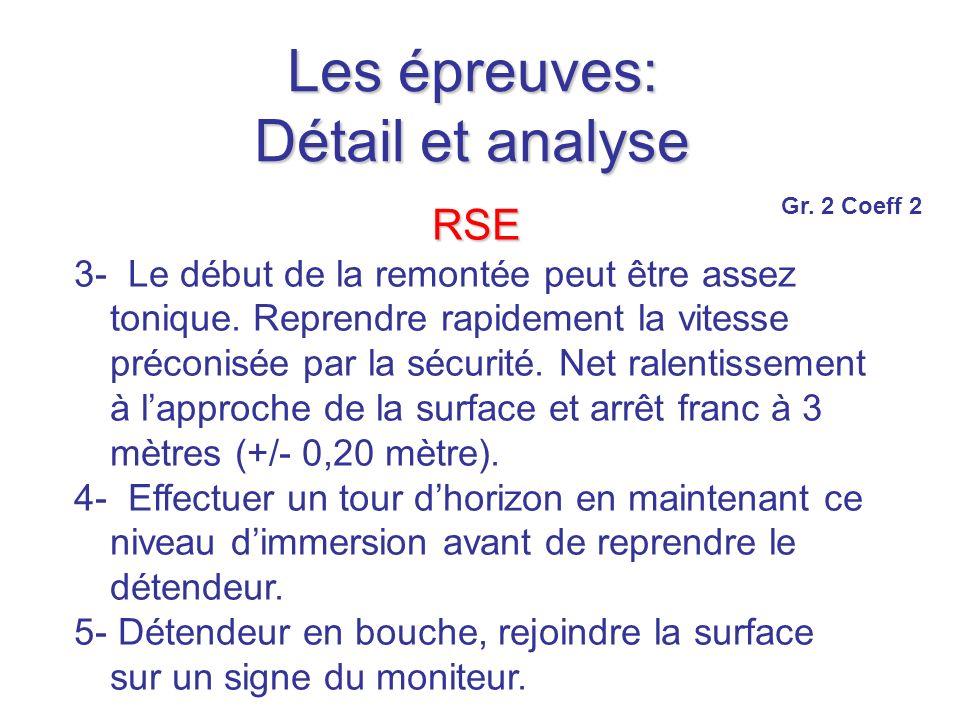 Les épreuves: Détail et analyse RSE 3- Le début de la remontée peut être assez tonique.