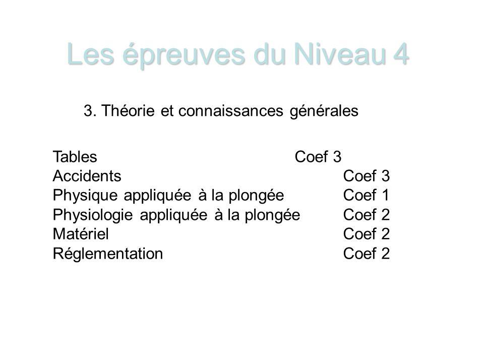 Les épreuves du Niveau 4 3.