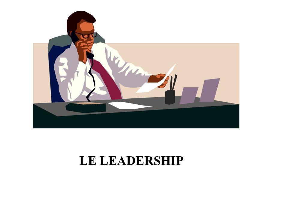 LE POUVOIR DE DÉCIDER LES SOURCES DU POUVOIR DU LEADER Provient de la position du dirigeant et de sa légitimité, = le manager est en droit de demander, lemployé a lobligation dobéir LE POUVOIR DE RÉCOMPENSER Provient de laptitude manifestée par le manager à fournir « quelque chose » que désirent des exécutants, en contrepartie des comportements quil souhaite de ces exécutants LE POUVOIR DE SANCTIONNER Ce pouvoir ne suscite pas bien souvent le comportement désiré (cessation du travail, absentéisme, mauvaise qualité…) – à utiliser en dernier recours