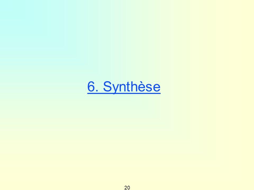20 6. Synthèse