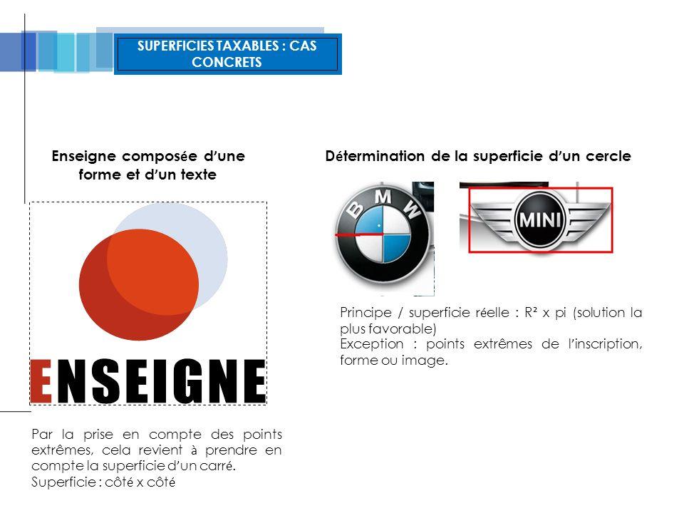 SUPERFICIES NON TAXABLES : CAS CONCRETS NON TAXABLE : Affiche vitro inter