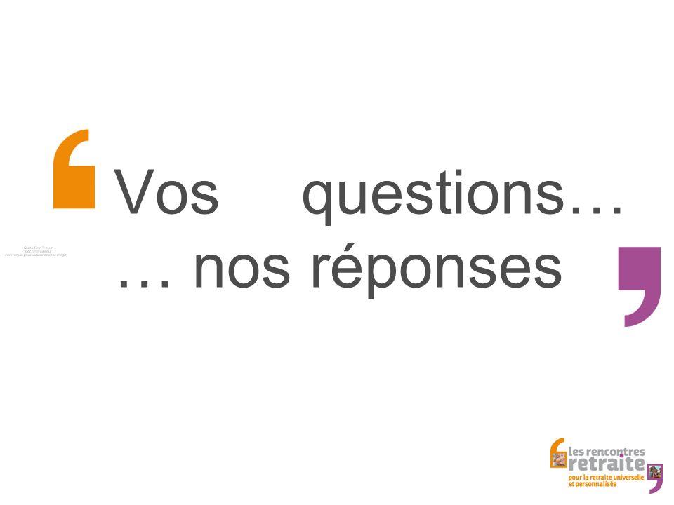 Vos questions… … nos réponses