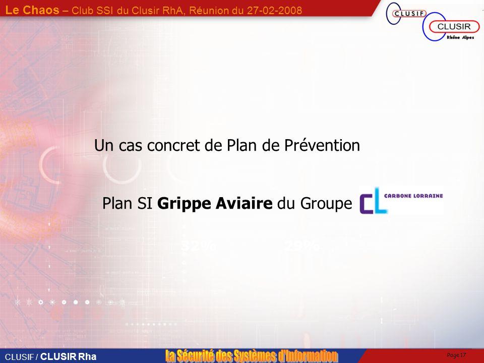 CLUSIF / CLUSIR Rha Le Chaos – Club SSI du Clusir RhA, Réunion du 27-02-2008 Page 16 Dominique Le Corre, Carbone Loraine