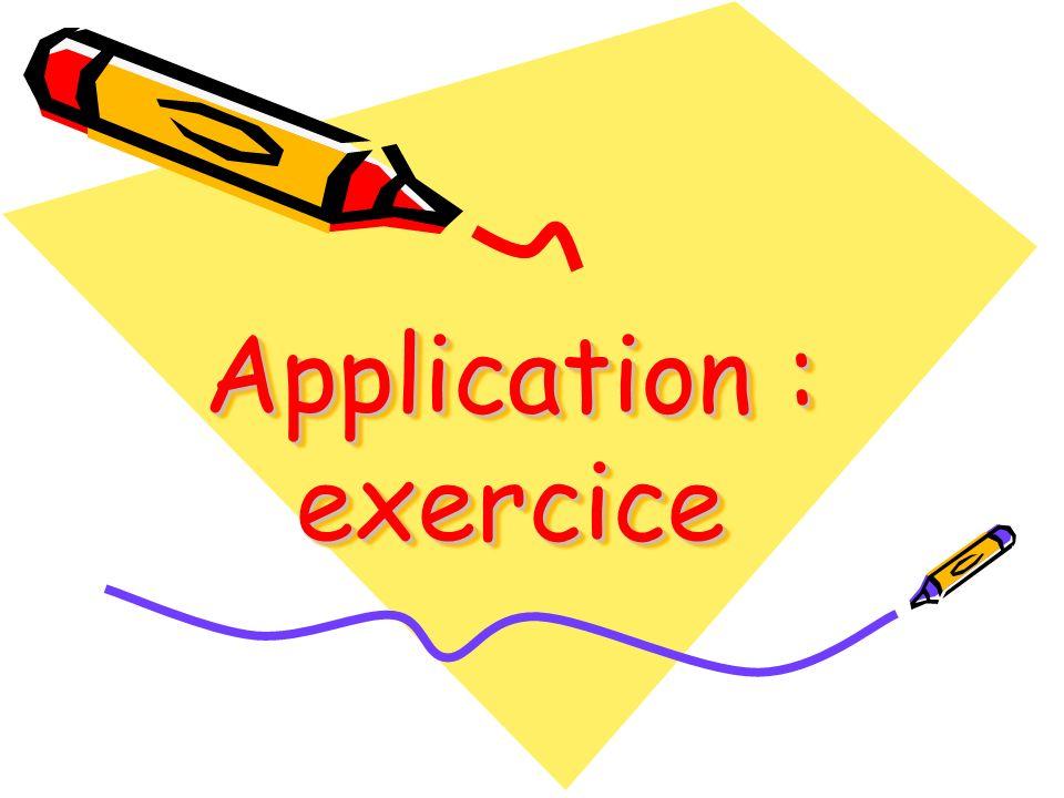 Application : exercice