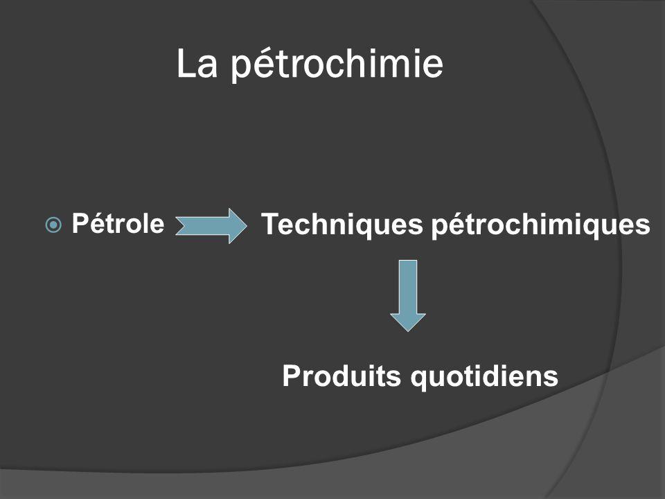 La pétrochimie Pétrole Techniques pétrochimiques Produits quotidiens