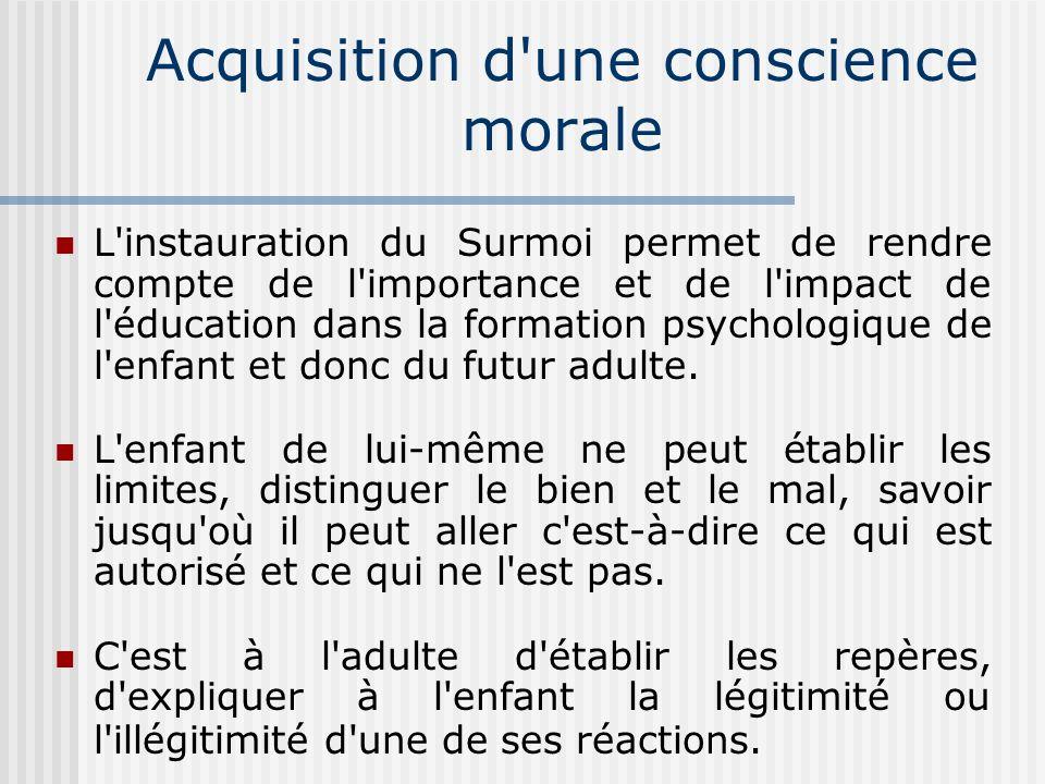 Surmoi et identification Le Surmoi se nourrit d identifications.