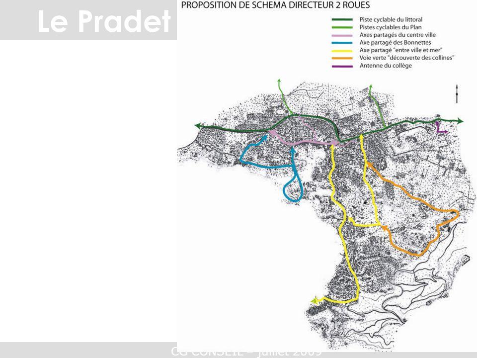 CG CONSEIL – juillet 2009 Etude des déplacements Le Pradet