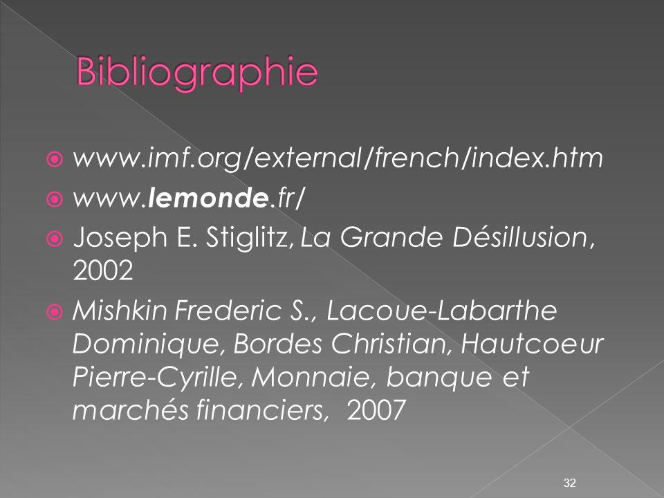 www.imf.org/external/french/index.htm www.lemonde.fr/ Joseph E.