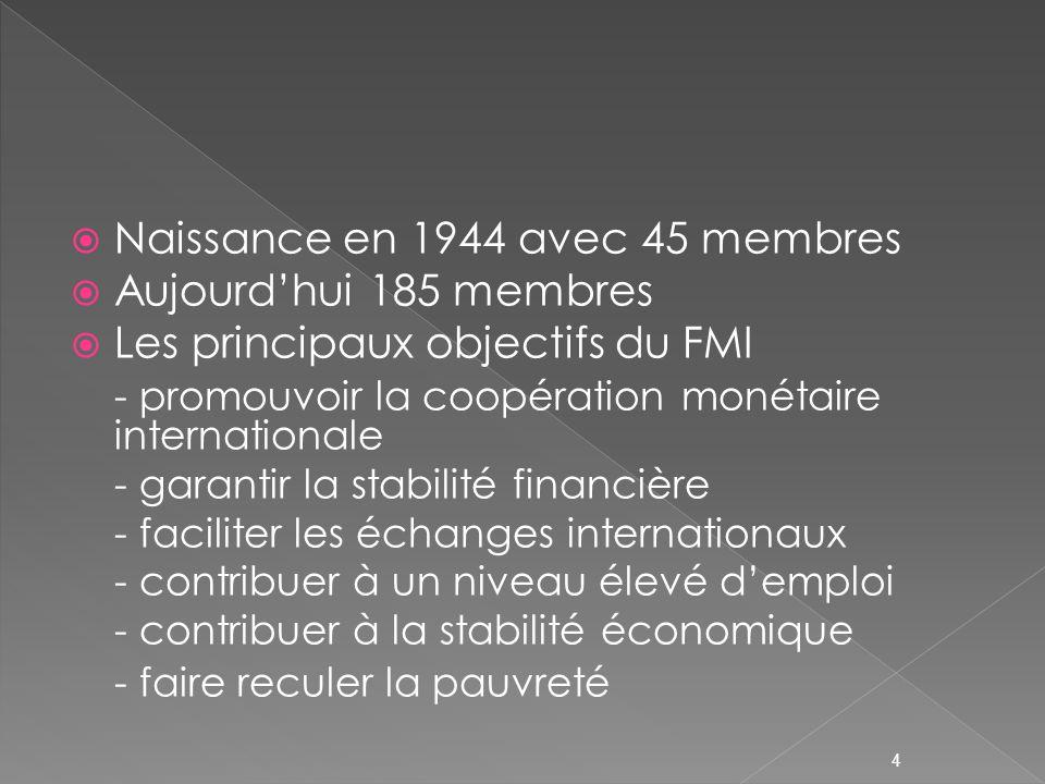 Les emprunts du FMI - le FMI peut recourir à lemprunt - Accords Généraux dEmprunt - Nouveaux Accords dEmprunt - ressources supplémentaires au FMI de lordre de 34 milliards de DTS 15
