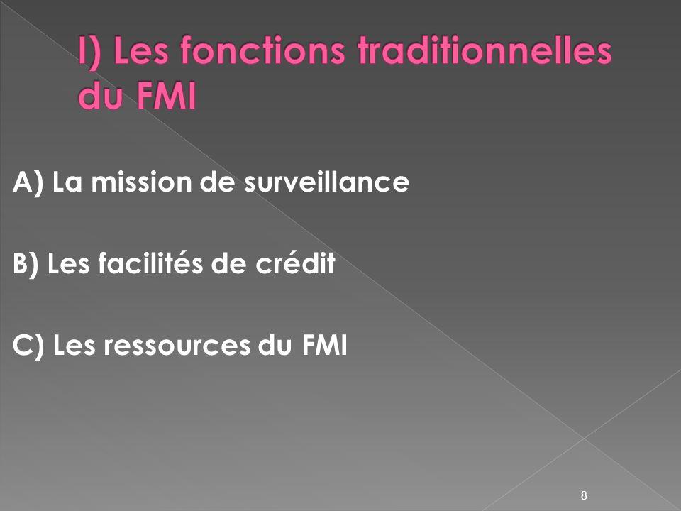 Contribue à la stabilité du système monétaire international dialogue entre le FMI et les pays membres (surveillance bilatérale) rapports dévaluation du FMI Les perspectives de léconomie mondiale et le Rapport sur la stabilité financière dans le monde 9