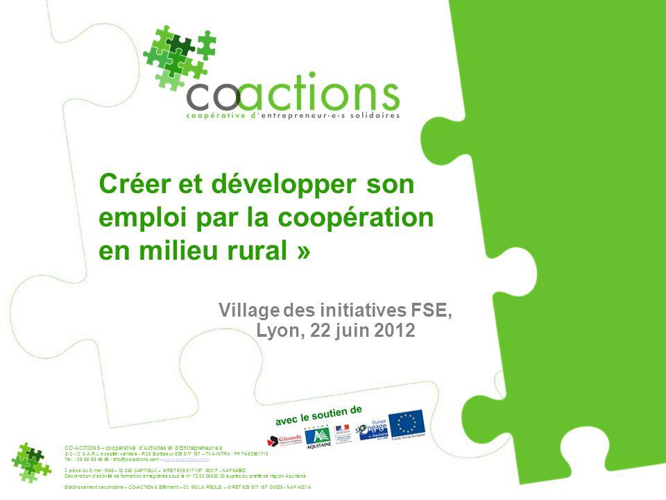 CO-ACTIONS – coopérative dActivités et dEntrepreneur.e.s S.C.I.C S.A.R.L à capital variable - RCS Bordeaux 529 817 157 – TVA INTRA : FR 74 529817157 T