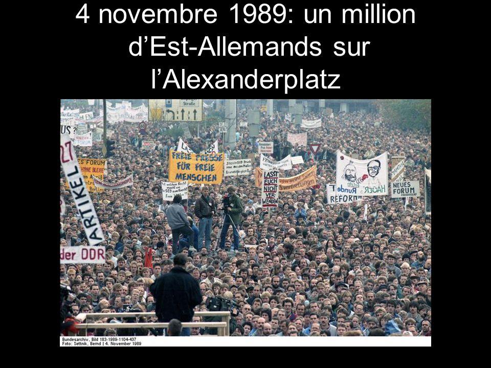 4 novembre 1989: un million dEst-Allemands sur lAlexanderplatz
