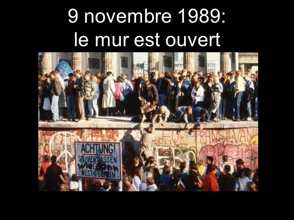 9 novembre 1989: le mur est ouvert