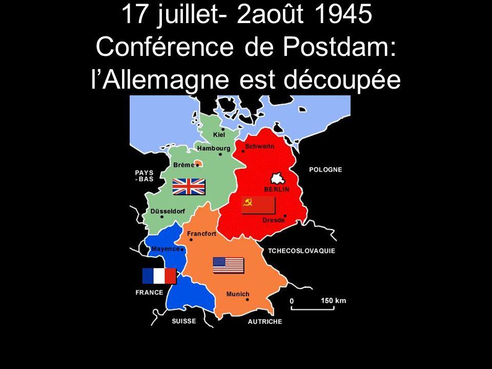 23 mai 1949 Fondation de la RDA La Zone doccupation a été transformée en un État communiste.