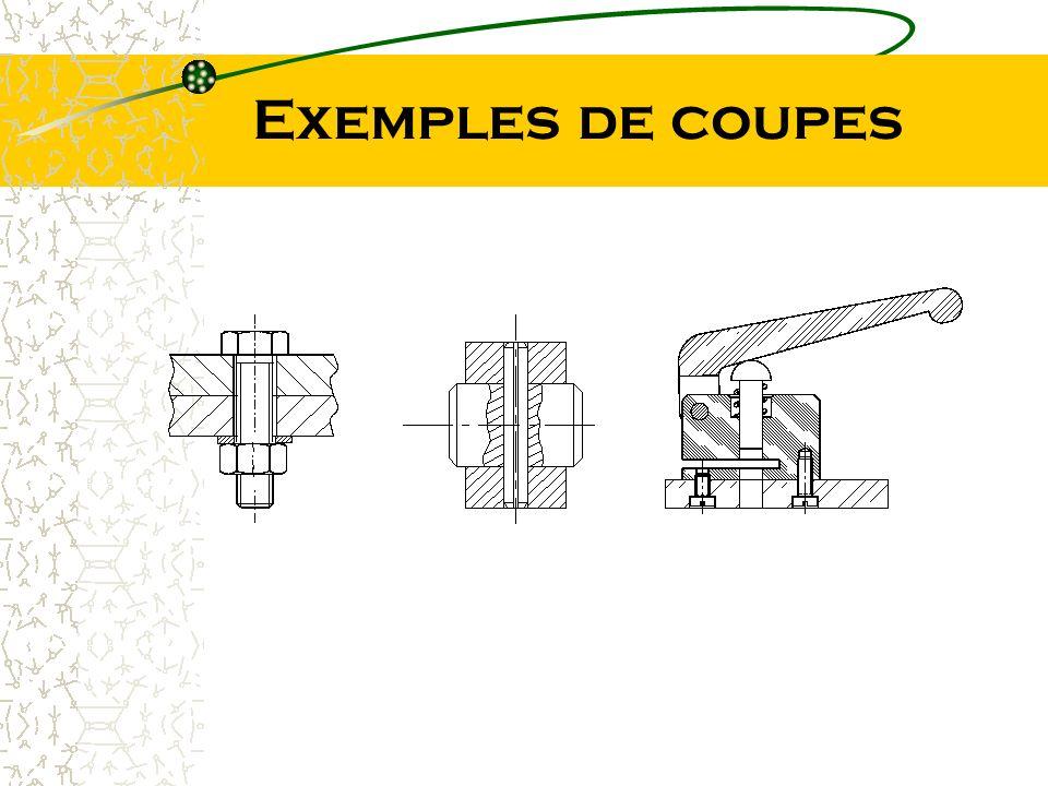 Exemples de coupes
