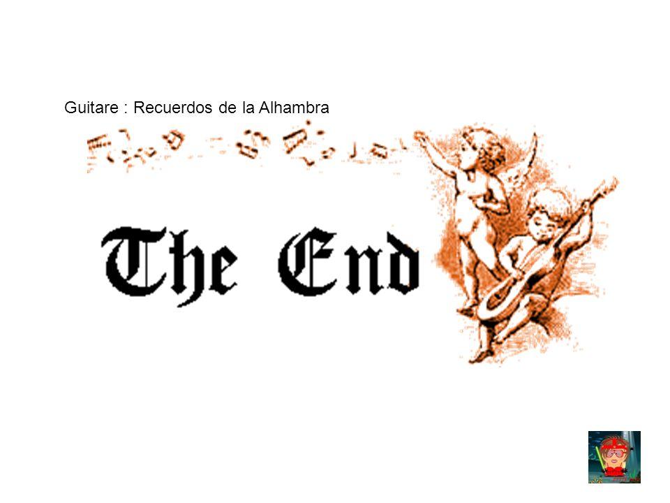 Guitare : Recuerdos de la Alhambra