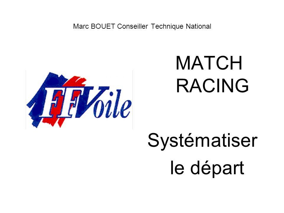 Marc BOUET Conseiller Technique National MATCH RACING Systématiser le départ
