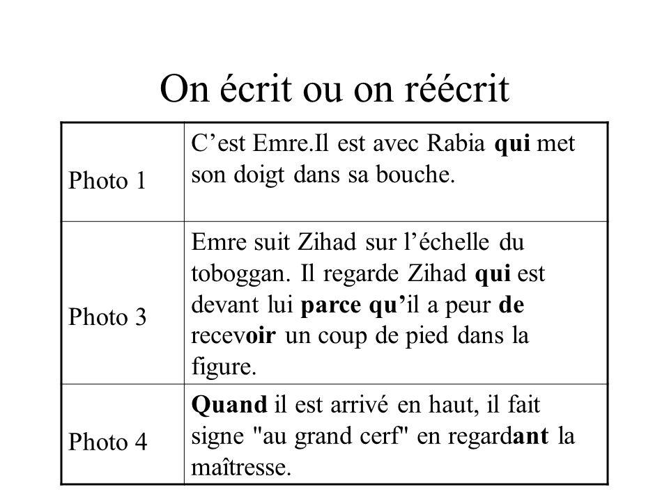 Exemple 2 Émissions spontanées de l enfant Propositions de l enseignant Propositions de Philippe Boisseau C est Mohamed.