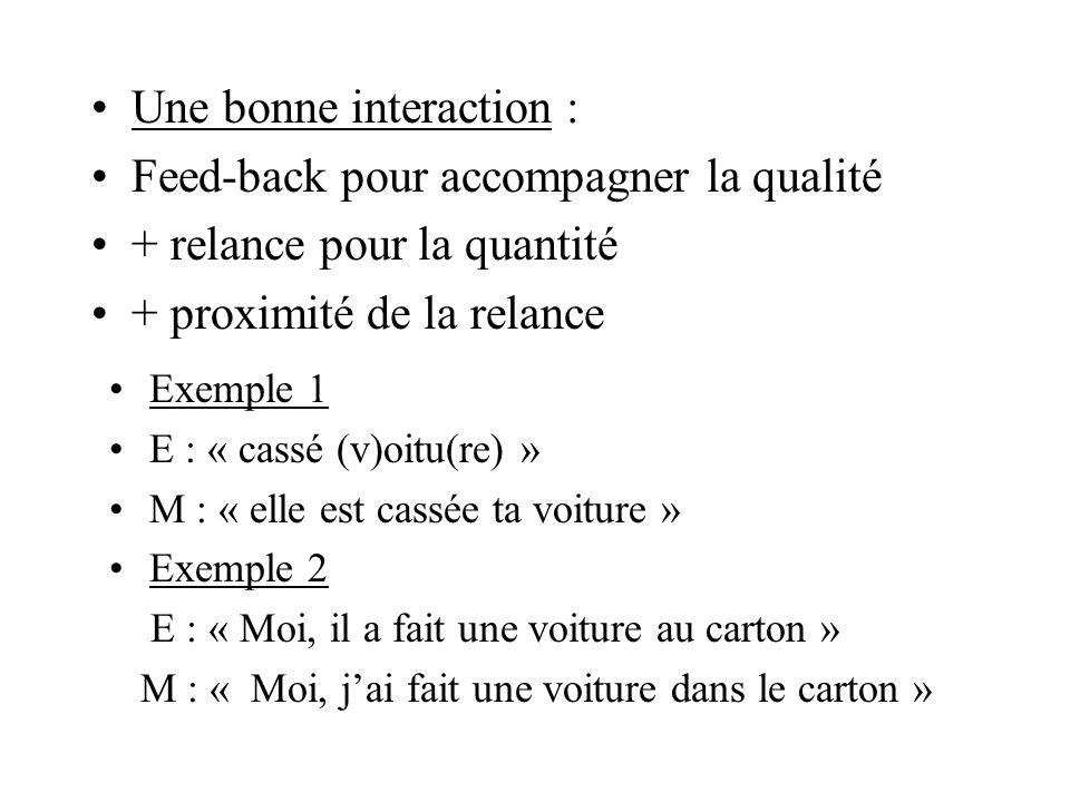 Syntaxe montante : Phrase 2 mots P simple P simple moi P simple je P simple maîtrisée P complexe