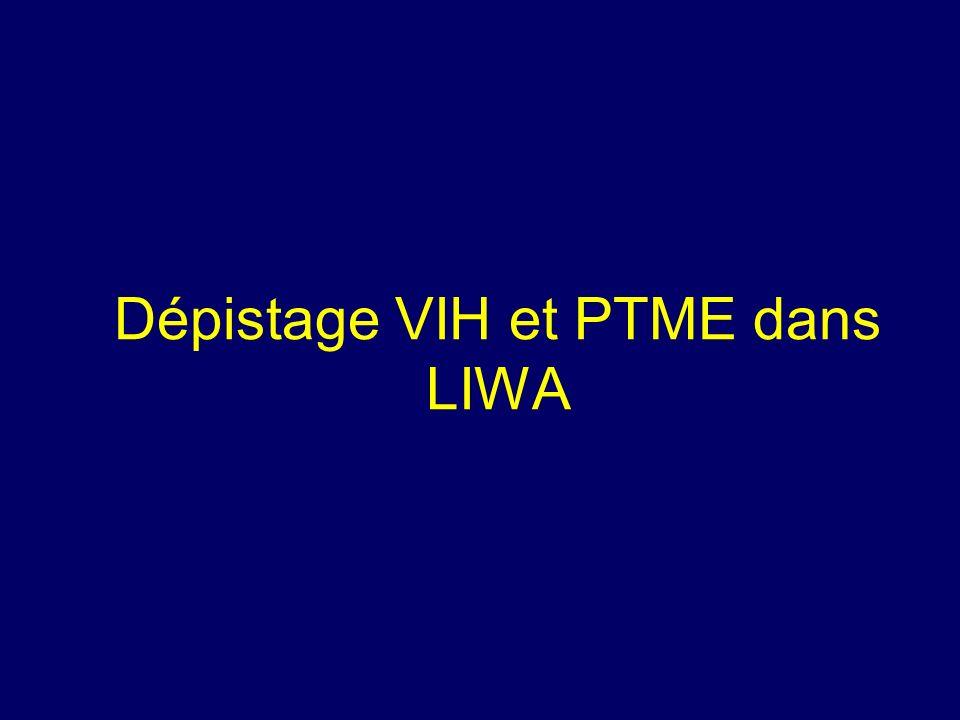 Dépistage VIH et PTME dans LIWA