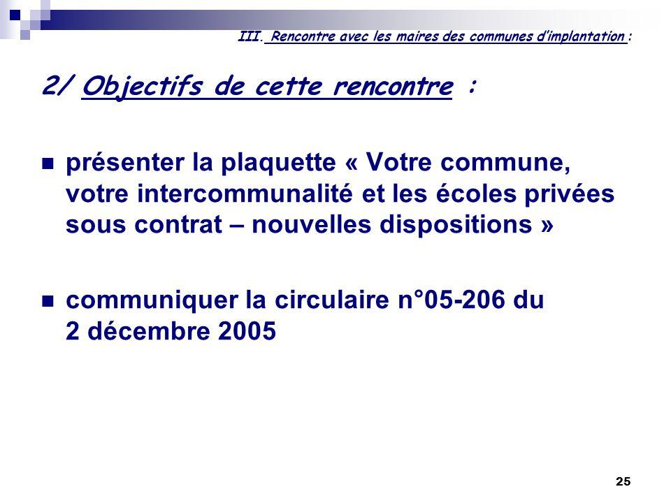 25 III. Rencontre avec les maires des communes dimplantation : 2/ Objectifs de cette rencontre : présenter la plaquette « Votre commune, votre interco