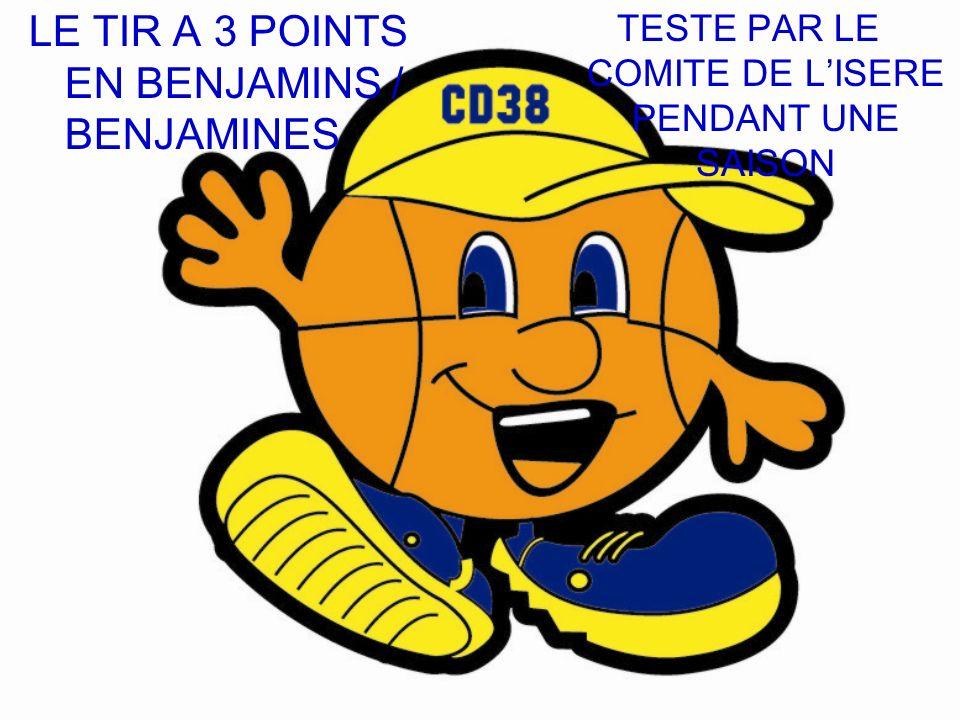 LE TIR A 3 POINTS EN BENJAMINS / BENJAMINES TESTE PAR LE COMITE DE LISERE PENDANT UNE SAISON