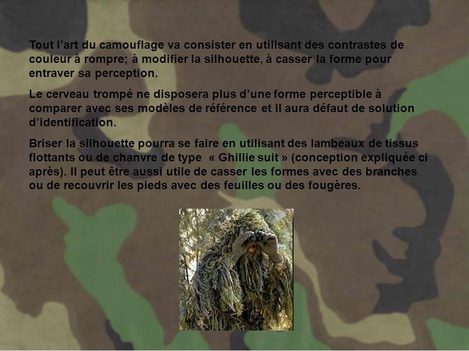Par rapports aux différentes missions, il y aura un environnement particulier et par la même un camouflage qui sy applique.